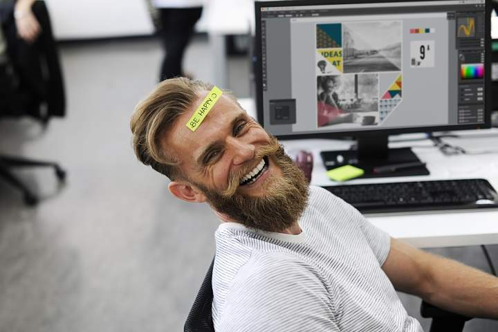 man enjoying hackathon